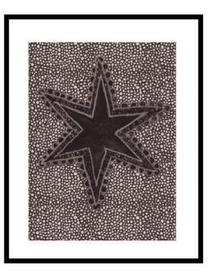 Tavla Carlastjärna brun 40x50 cm